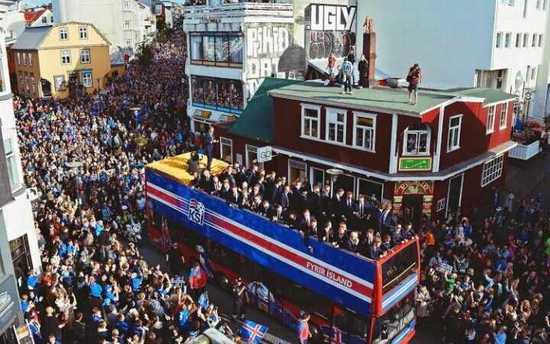 喜迎冰岛足球英雄回国