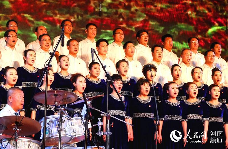 """渑池县举行""""庆七一 喜迎党的十九大""""红歌大赛"""