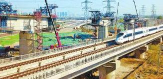 郑万客专联络线特大桥连续梁7月份完工