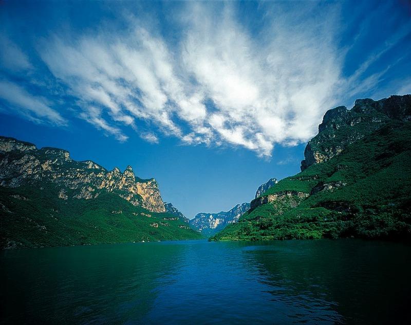 是云台山景区仅有的湖泊水体景观