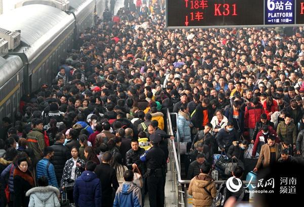 1月起郑州开启春运时刻 预计发送旅客1545万