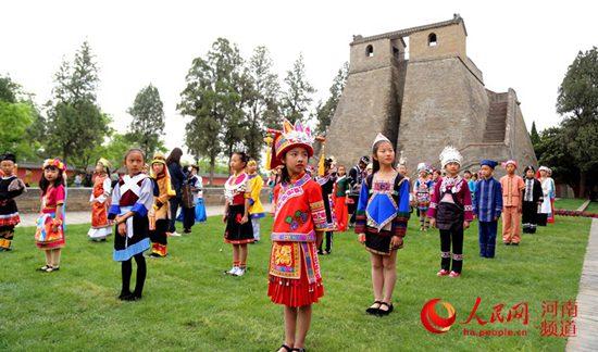 全国少数民族传统体育运动会火种在郑州采集