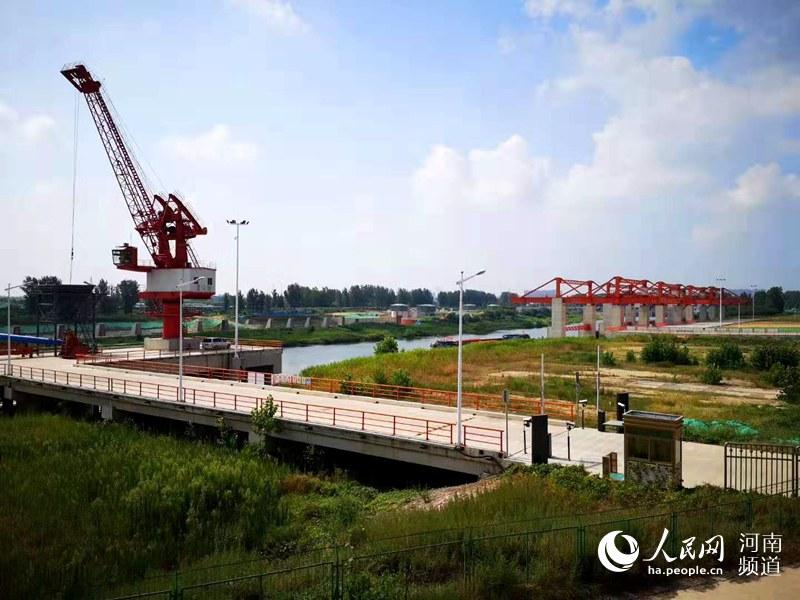 """河南漯河港正式开航 再现""""水旱码头""""繁华盛景"""