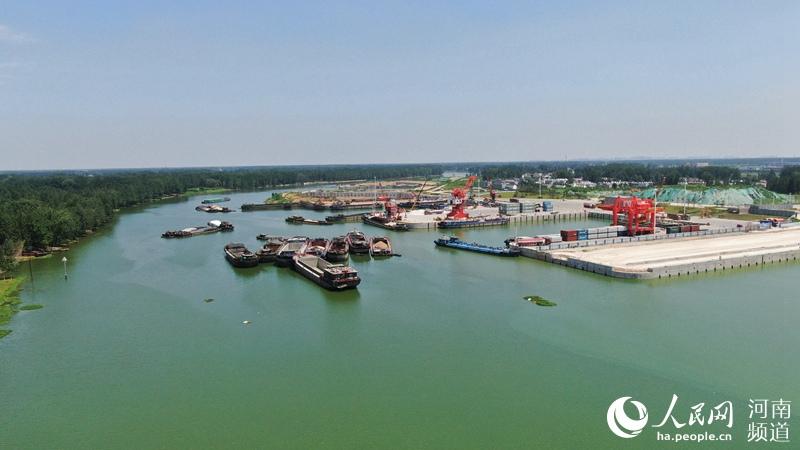 厉害了!河南周口中心港:豫货出海口 通江达海道