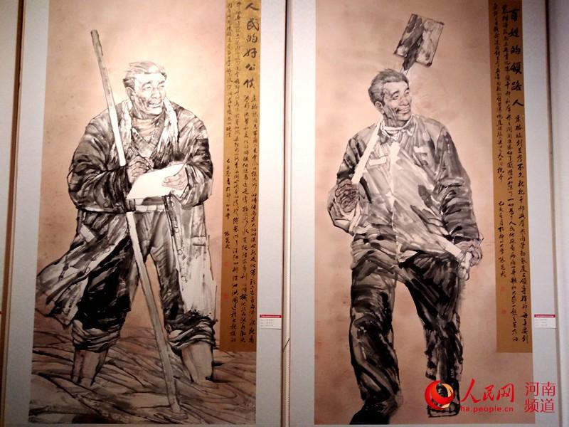 首战!弘扬焦裕禄精神美术作品巡展在河南省美术馆开幕