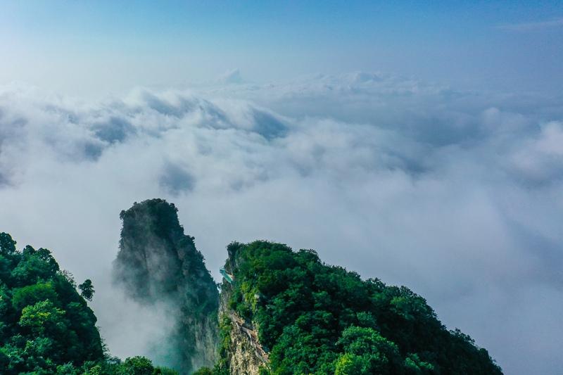 雨后初晴 云台山壮美云海惊艳游客