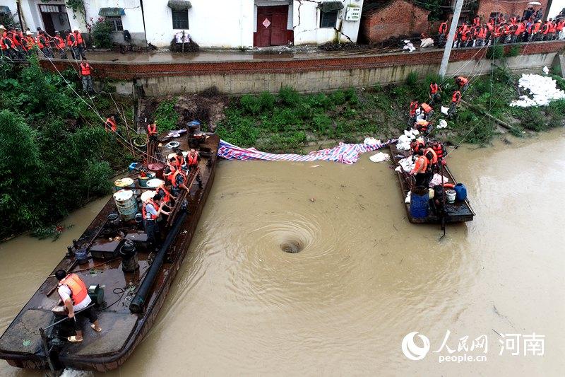 """科学防汛 水利部门鏖战击退史灌河""""7·19""""洪水"""