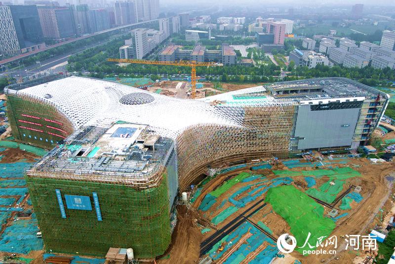 初露峥嵘!国内最大在建科技馆幕墙开始大规模施工