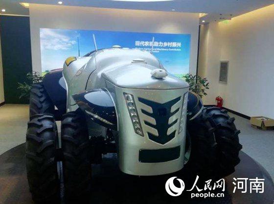 """中国首台5G+氢燃料电动拖拉机""""洛阳造"""""""