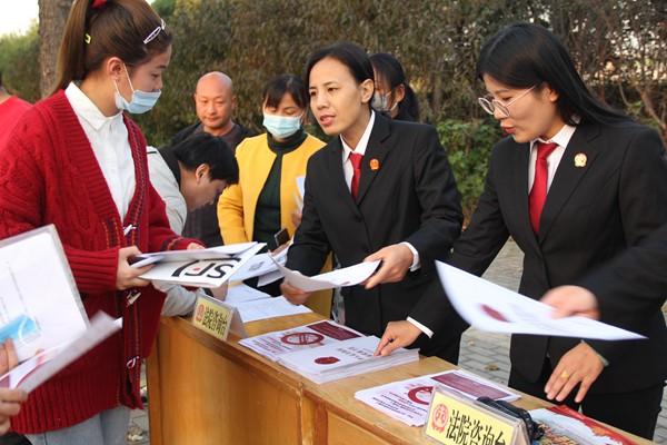扶沟积极开展维护妇女儿童权益法治宣传活动