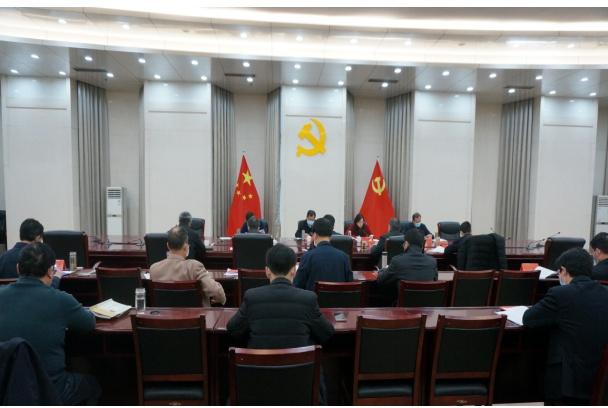 河南省扶贫办召开2020年度基层党组织书记述职评议会