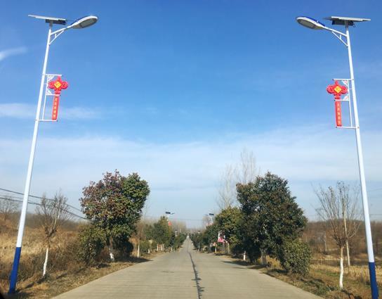 河南罗山:路灯照亮幸福路 乡村振兴有盼头