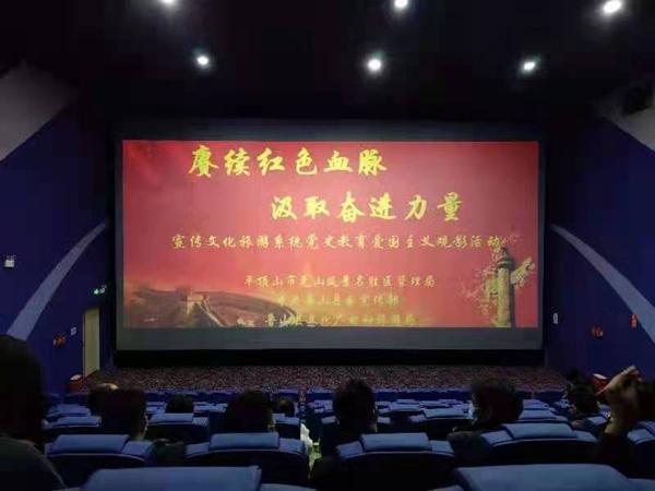 河南鲁山:宣传文化旅游系统集中观看电影《长津湖》