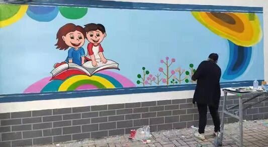 平顶山卫东区:丰富墙绘展最靓丽风景线